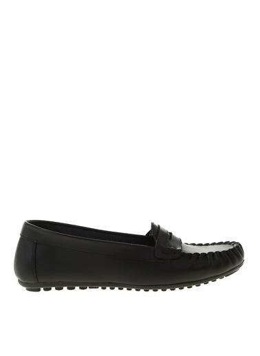 Fabrika Fabrika Yuvarlak Burun Büzgü Desenli Erkek Ayakkabı Siyah